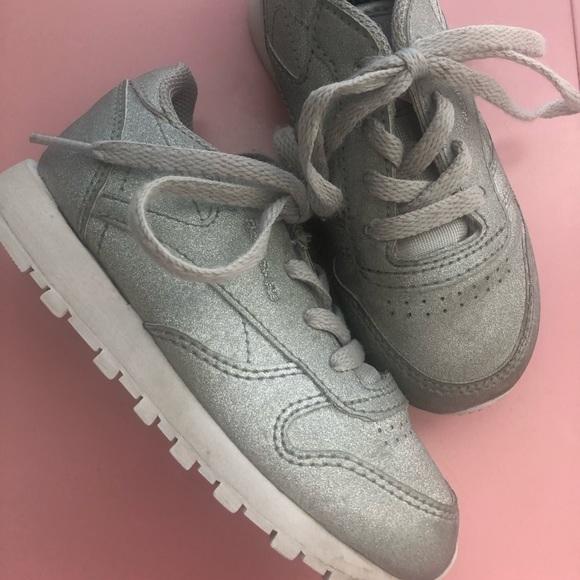 Reebok Shoes | Silver Glitter Sneakers